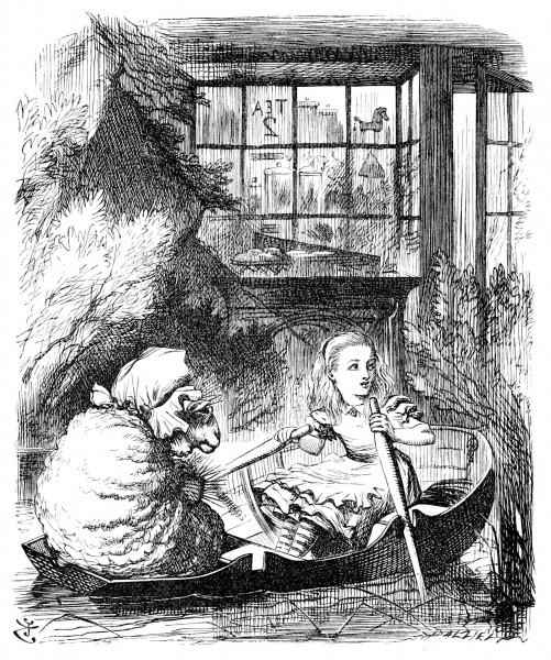 John Tenniel Alice Rows the Sheep