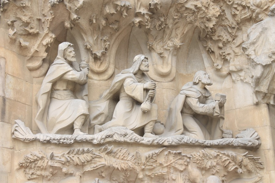 Sagrada Familia nativity facade detail4