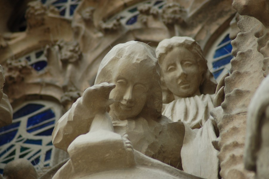 Sculpture on the exterior of the Sagrada Familia - Angels