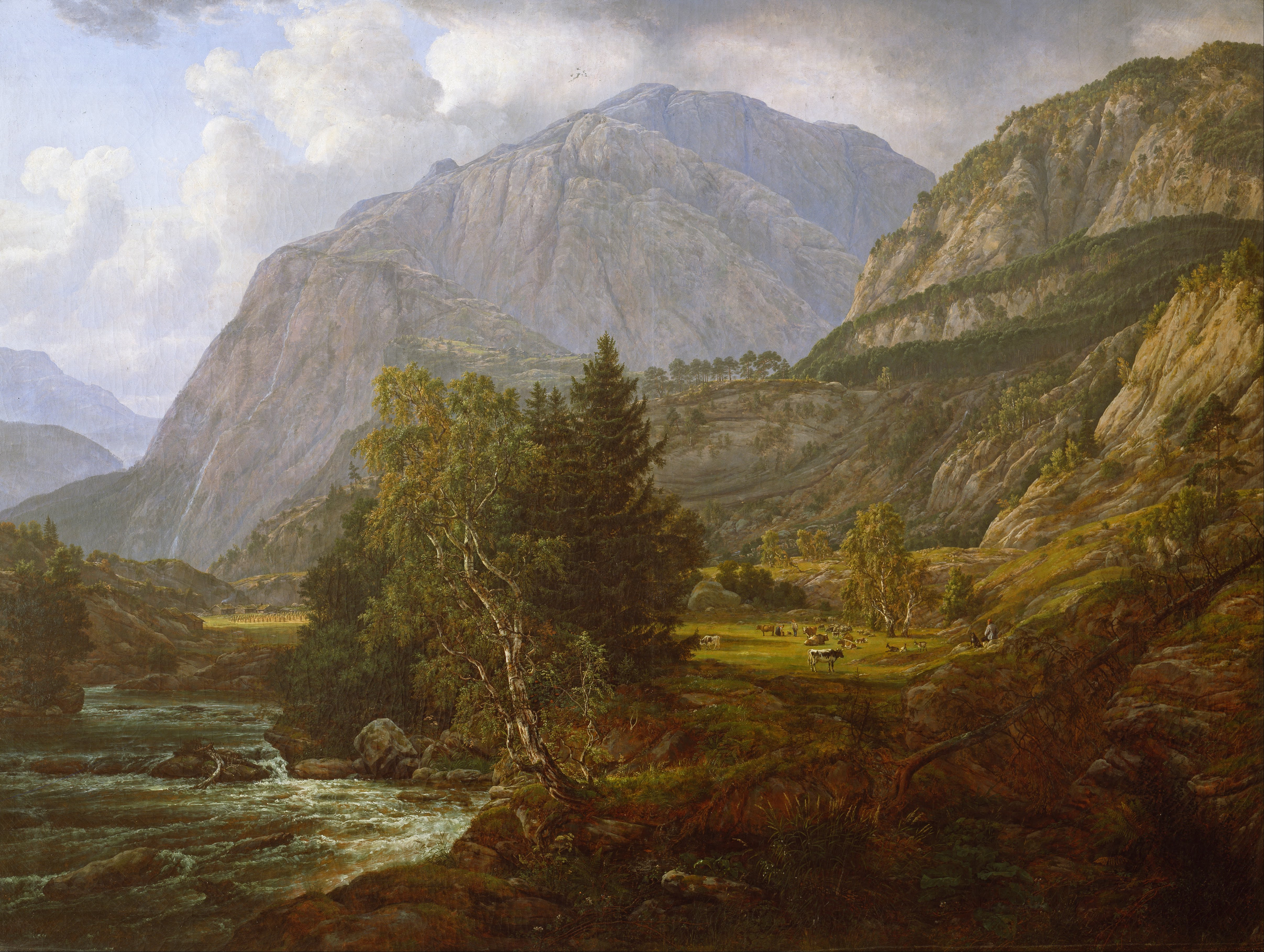 Johan Christian Dahl - View of Fortundalen - Google Art Project