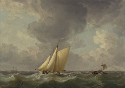 Charles Brooking - A Cutter in a Strong Breeze - Google Art Project