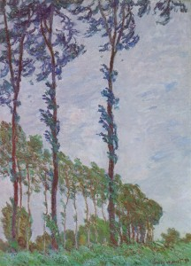 Claude Monet - Poplars (Wind effect)