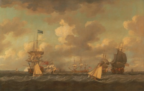 Dominic Serres - English Ships Coming to Anchor in a Fresh Breeze - Google Art Project
