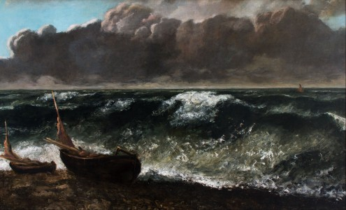 Gustave Courbet - The Wave - Google Art Project (GwH6XMr0q0o4Lw)