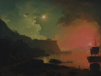 Joseph Wright of Derby - Vesuvius from Posillipo - Google Art Project
