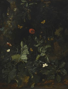 Nicolaes de Vree A Forest Floor Still Life with Flowering Plants and Butterflies