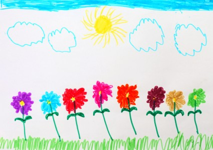 a painting by a 4 to 6 year old girl, picture 5
