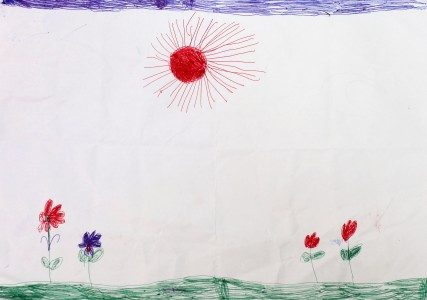 a painting by a 4 to 6 year old girl, picture 8