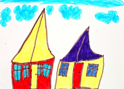 a painting by a 4 to 6 year old girl, picture 13