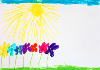 a painting by a 4 to 6 year old girl, picture 21