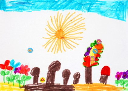 a painting by a 4 to 6 year old girl, picture 22