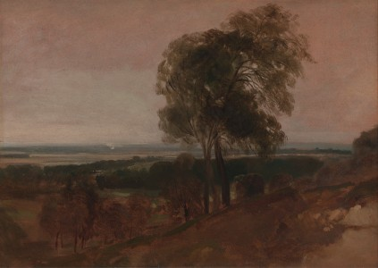 Peter DeWint - Landscape study at sunset - Google Art Project