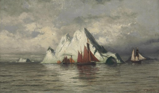 William Bradford - Fishing Boats and Icebergs