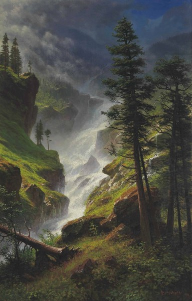 Albert Bierstadt - Rocky Mountain Waterfall (1898)