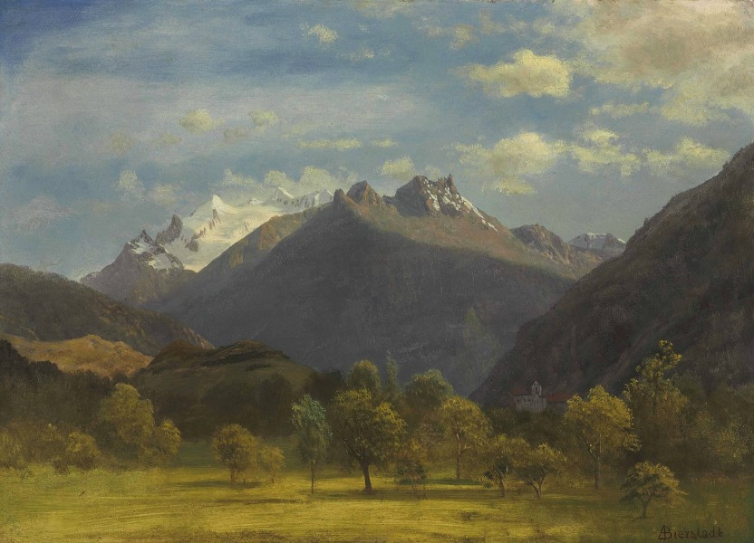 Albert Bierstadt - The Alps from Visp