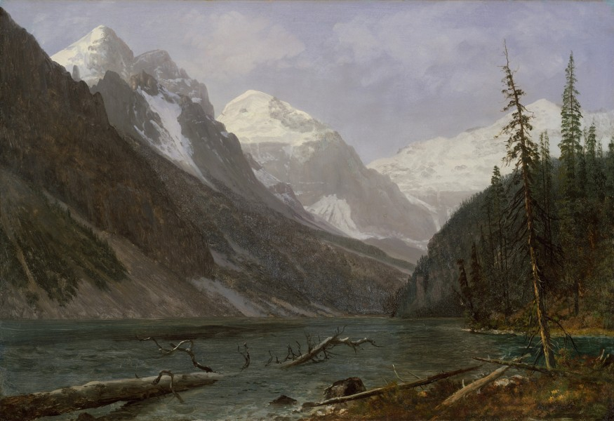 Bierstadt Albert Canadian Rockies Lake Louise