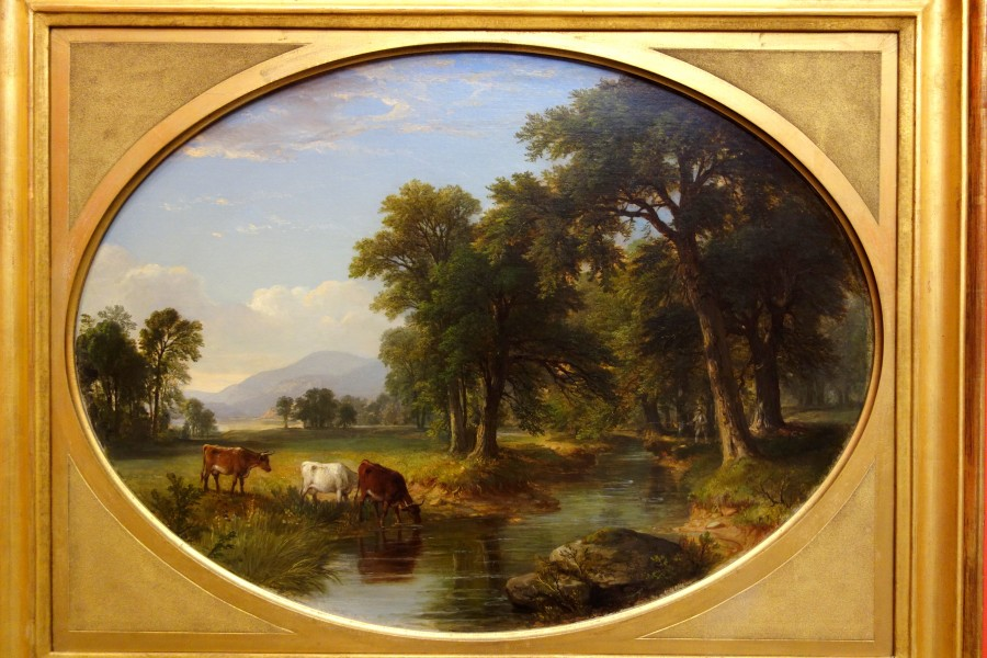 Catskill Creek (Summer Afternoon) by Asher B. Durand, 1855, oil on canvas - Albany Institute of History and Art - DSC08138