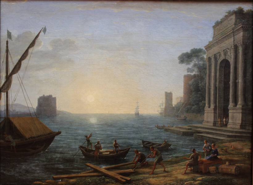 Claude Lorrain - A Seaport at Sunrise - WGA05016