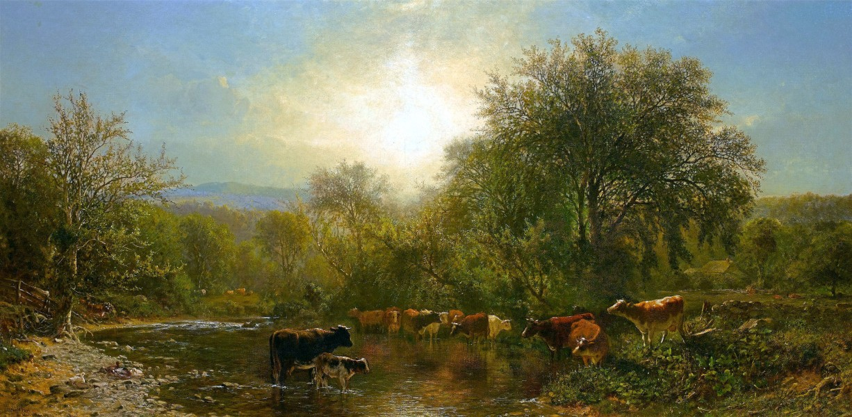 Cows Watering-James McDougal Hart-1865