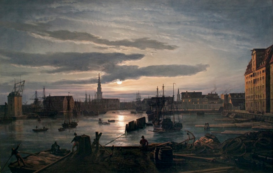 Dahl - Copenhagen Harbour by Moonlight