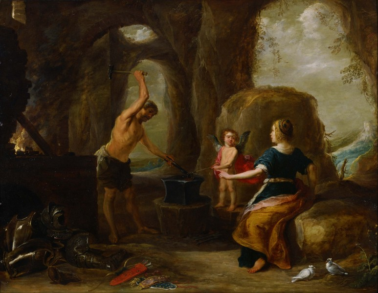 David Teniers, the Elder - Venus Visiting Vulcan's Forge - Google Art Project