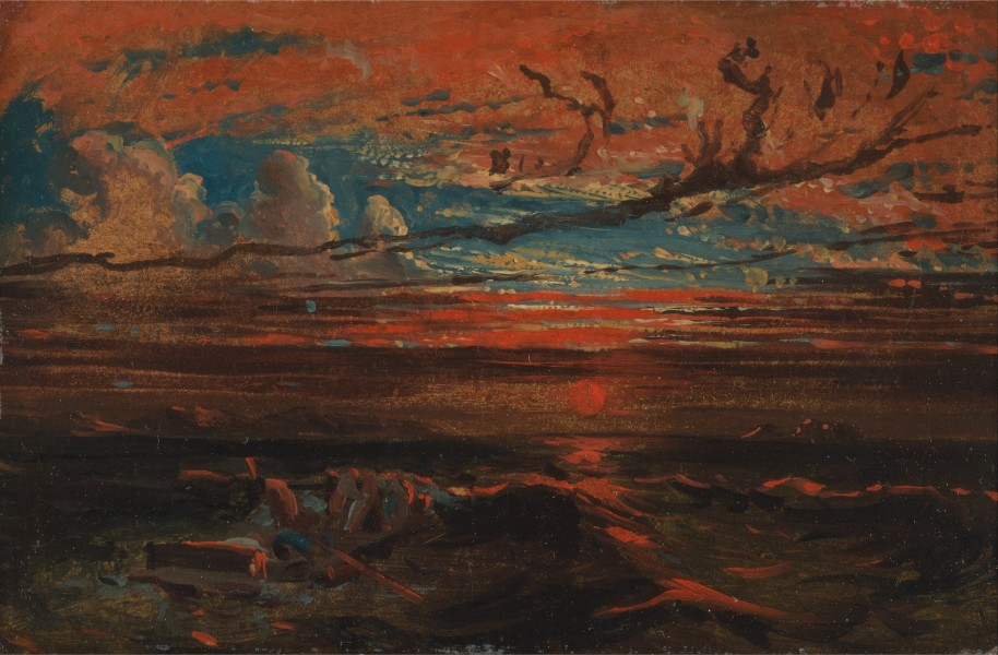Francis Danby - Sunset at Sea after a Storm - Google Art Project