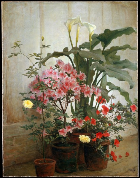 George Cochran Lambdin - Side of a Greenhouse (15622859305)