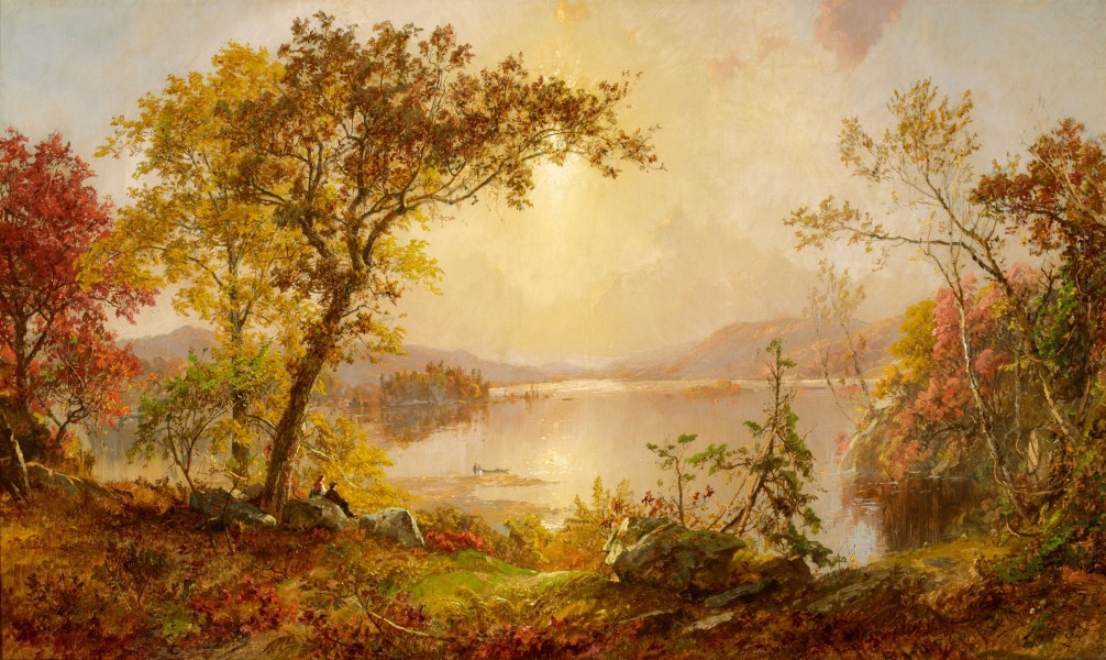 Greenwood Lake Autumn on the Hudson-Jasper Francis Cropsey-1875