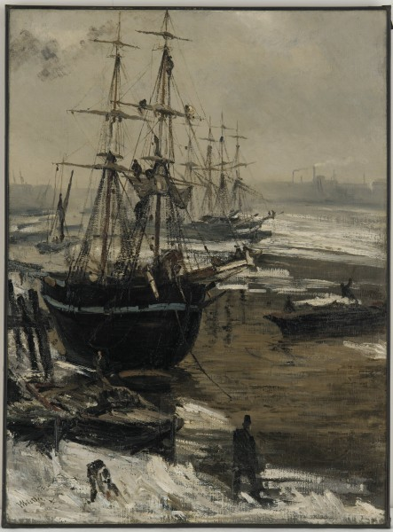 James McNeill Whistler - The Thames in Ice - Google Art Project