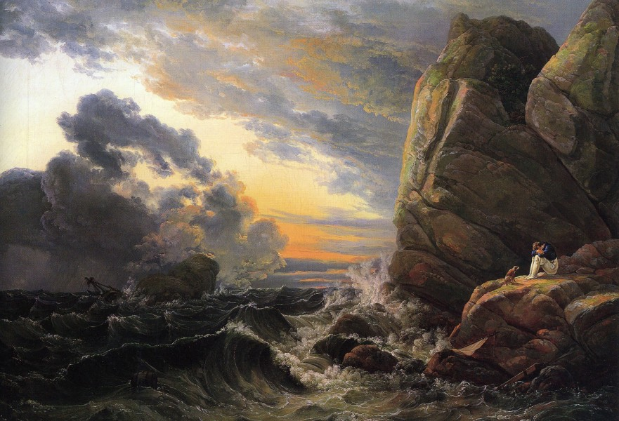 Johan Christian Claussen Dahl - Morning after a Stormy Night - WGA05878