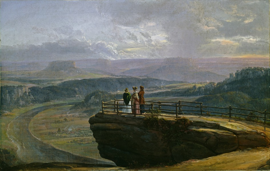 Johan Christian Dahl - View from Bastei - Google Art Project