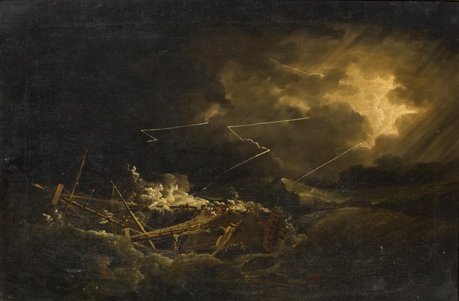 John Thomas Serres - The wreck of the H.M.S. Deal Castle