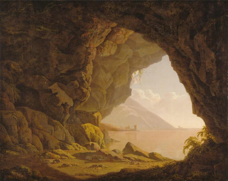Joseph Wright of Derby - Cavern, near Naples - Google Art Project