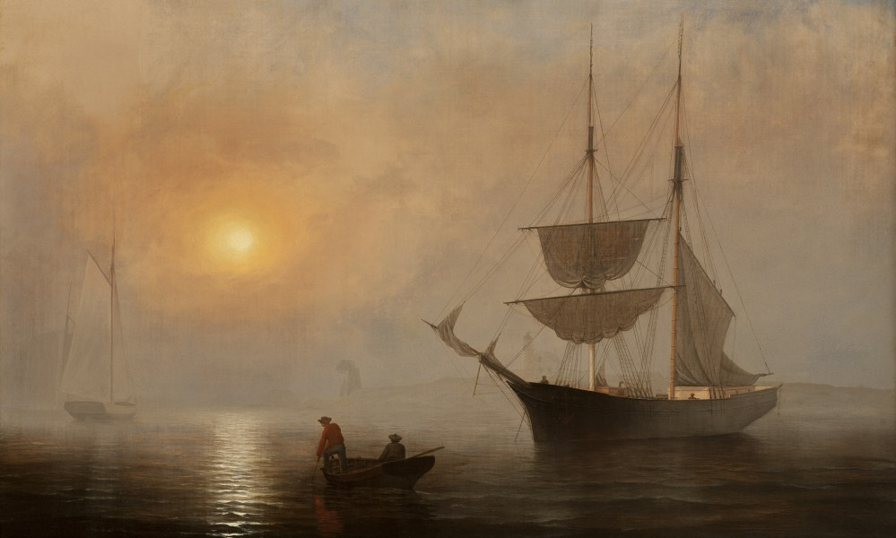 Lane, Fitz Henry, Ship in Fog, Gloucester Harbor, ca. 1860