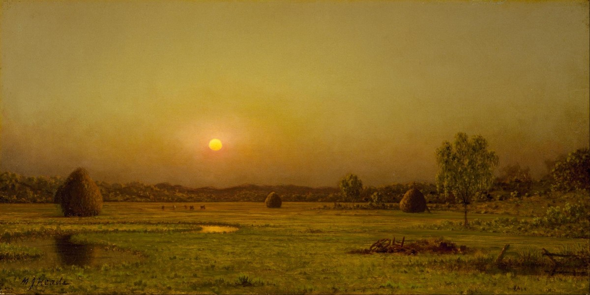 Martin Johnson Heade - Marsh Sunset, Newburyport, Massachusetts - Google Art Project