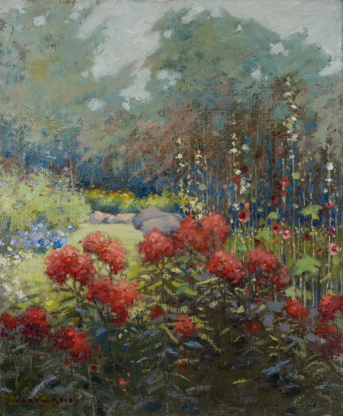 Mary Hiester Reid - A Garden in September - Google Art Project