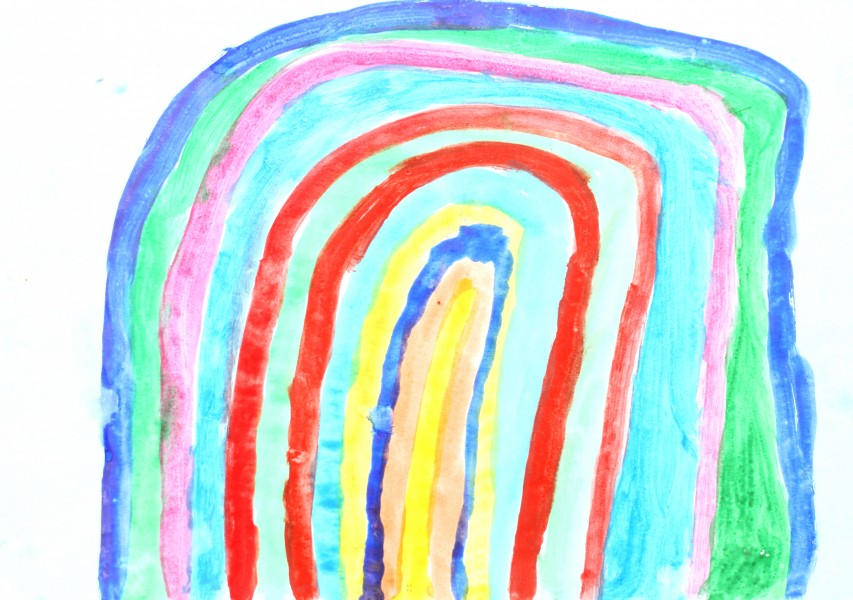 a painting by a 4 to 6 year old girl, picture 4