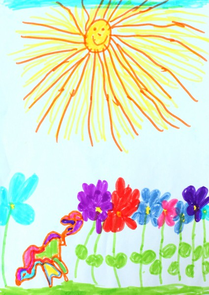 a painting by a 4 to 6 year old girl, picture 6