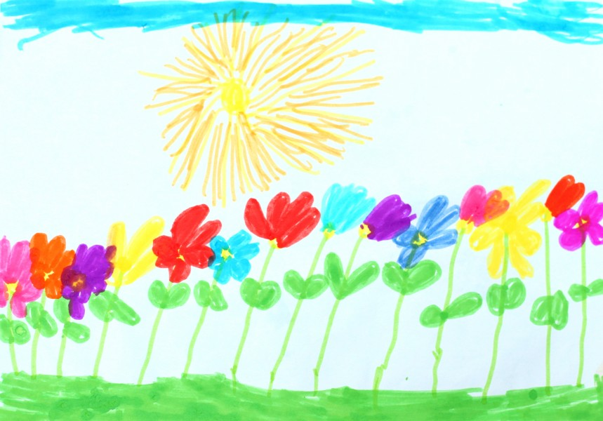 a painting by a 4 to 6 year old girl, picture 7