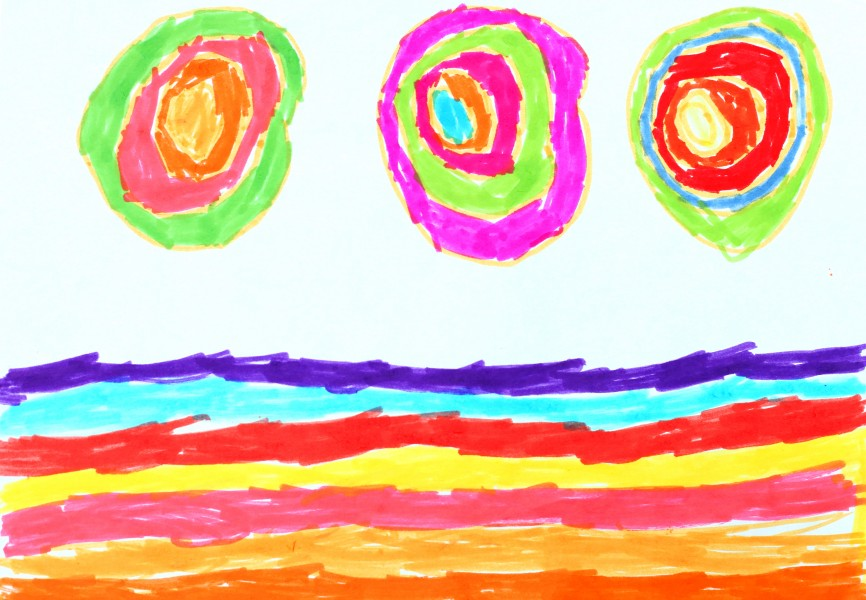 a painting by a 4 to 6 year old girl, picture 9