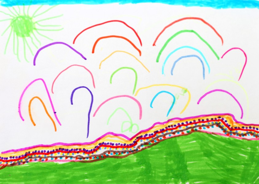 a painting by a 4 to 6 year old girl, picture 11