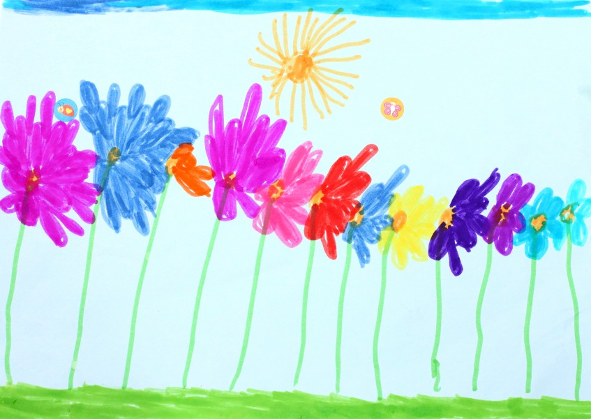 a painting by a 4 to 6 year old girl, picture 12