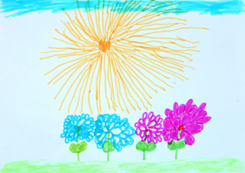 a painting by a 4 to 6 year old girl, picture 15