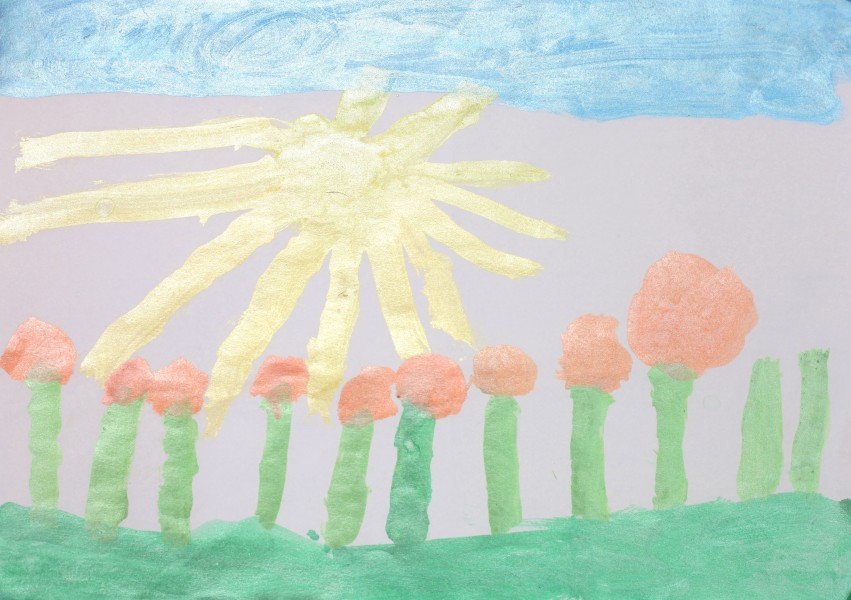 a painting by a 4 to 6 year old girl, picture 16