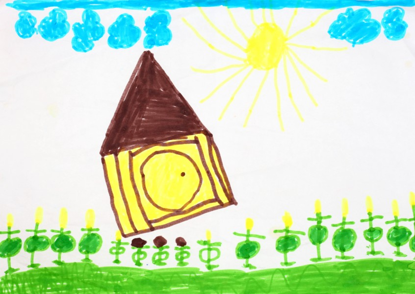 a painting by a 4 to 6 year old girl, picture 20