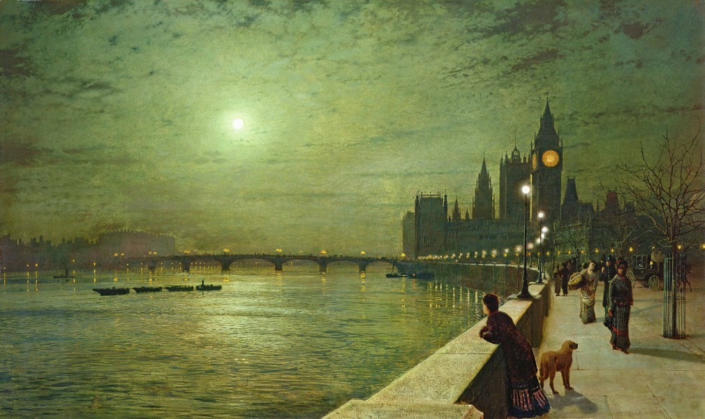 Reflections on the Thames, Westminster - Grimshaw, John Atkinson
