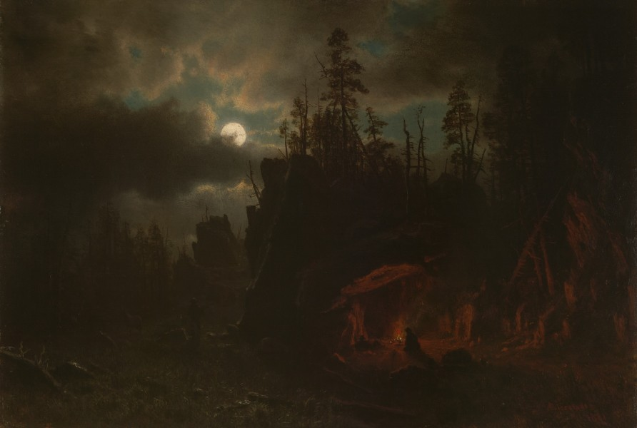 The Trappers' Camp by Albert Bierstadt 1861
