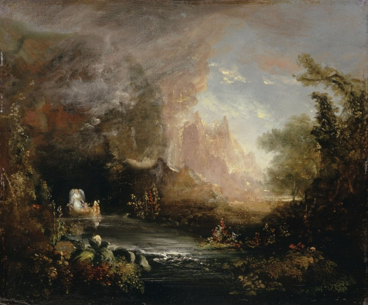 Thomas Cole - The Voyage of Life Childhood, 1839 (Albany Institute of History & Art)