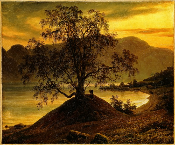 Thomas Fearnley - Old Birch Tree at the Sognefjord - Google Art Project