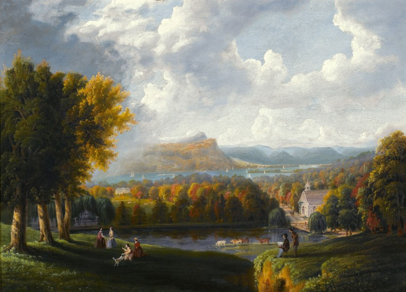 View of the Hudson River-Robert Havell Jr-1866